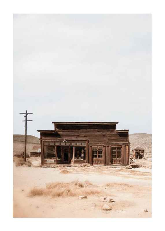 Wooden House In Desert-1