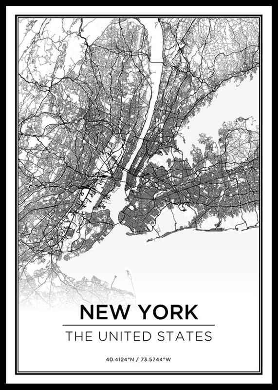 New York Karta-0