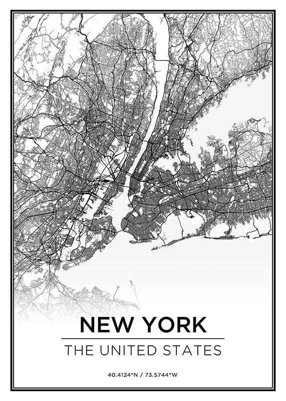 New York Karta-1