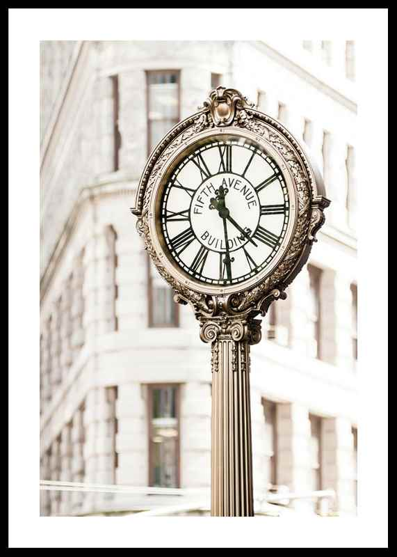 Fifth Avenue Building Clock-0