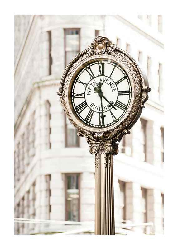 Fifth Avenue Building Clock-1