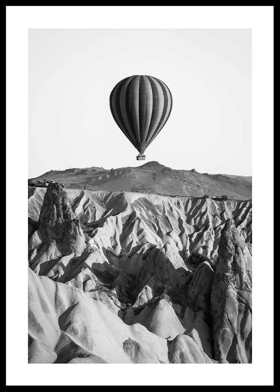 Hot Air Balloon B&W-0