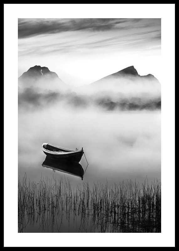 Boat In Mist-0