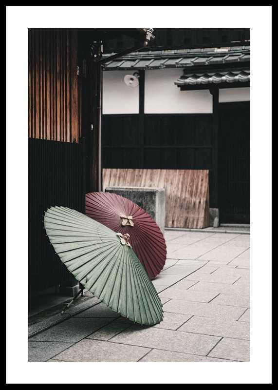 Umbrellas In Kyoto