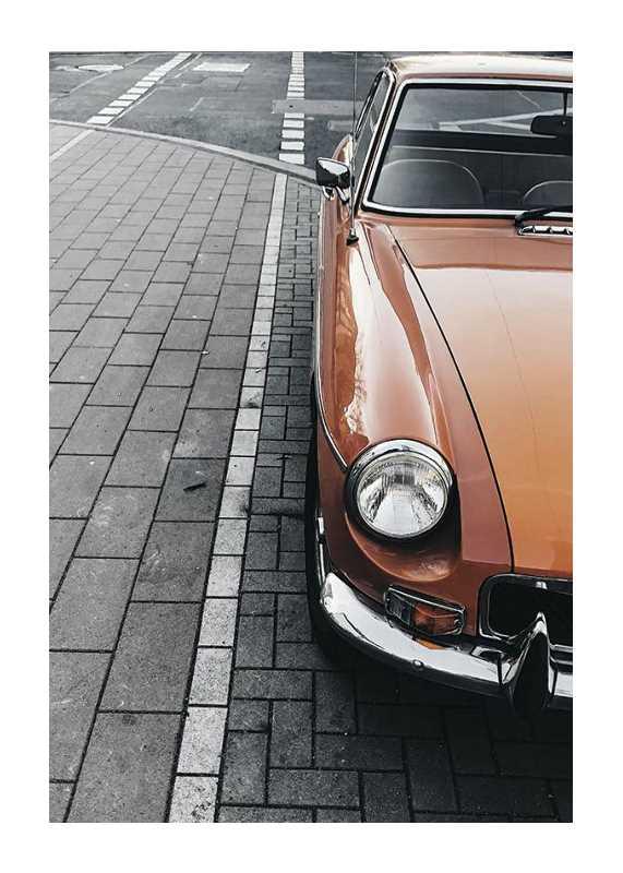 Classic Car On Street-1