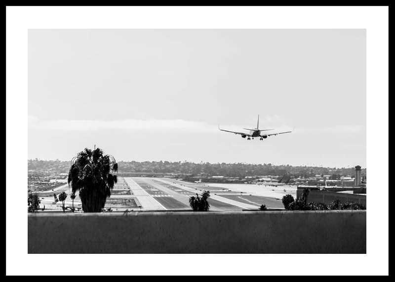 Airplane Over Runway-0