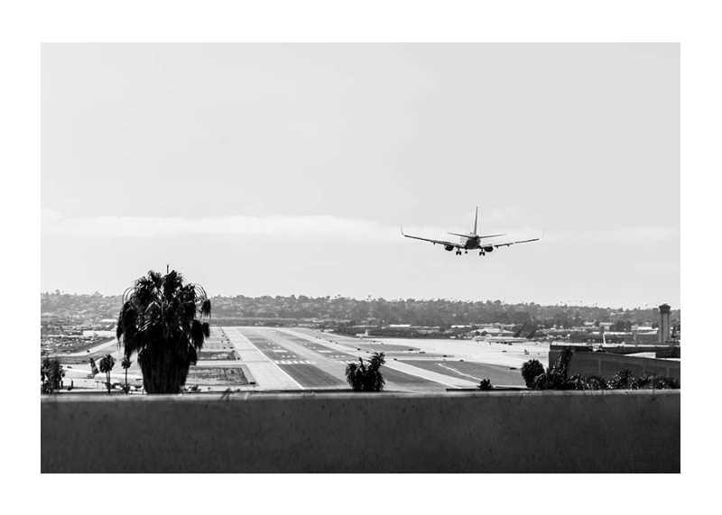 Airplane Over Runway-1