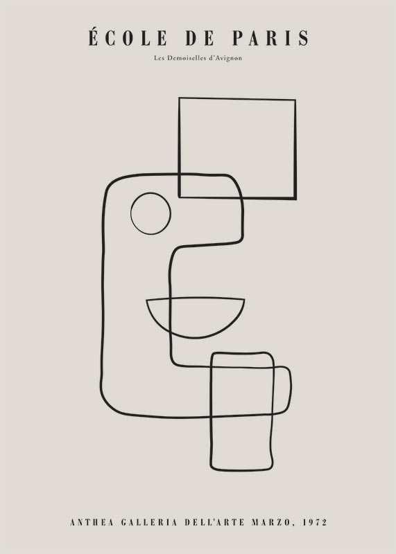 Picasso Cubisme Et Lignes-1