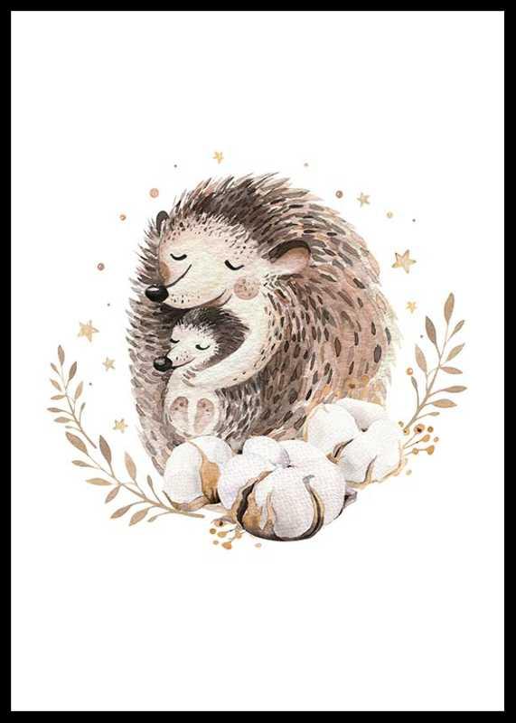 Watercolor Hedgehog Family-0