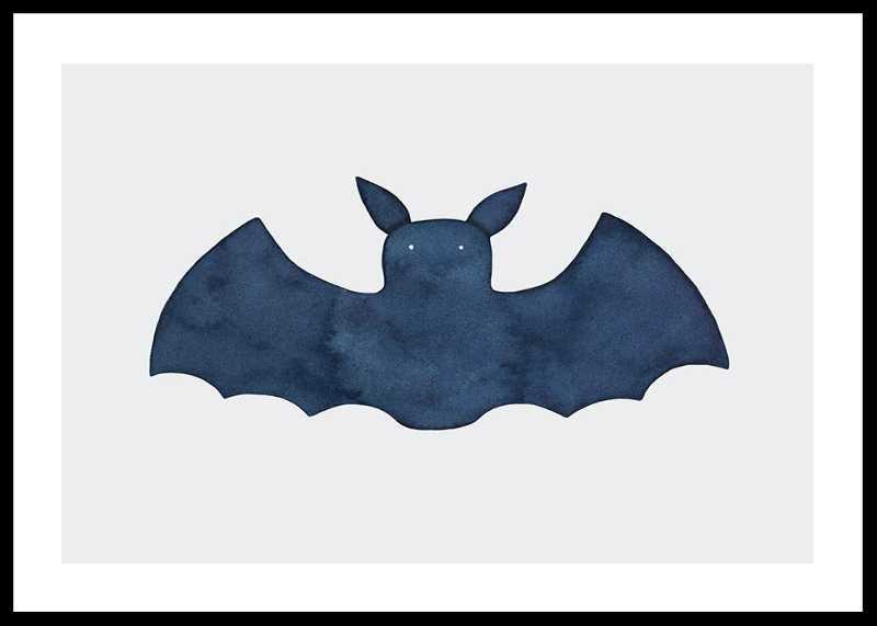 Watercolor Bat-0