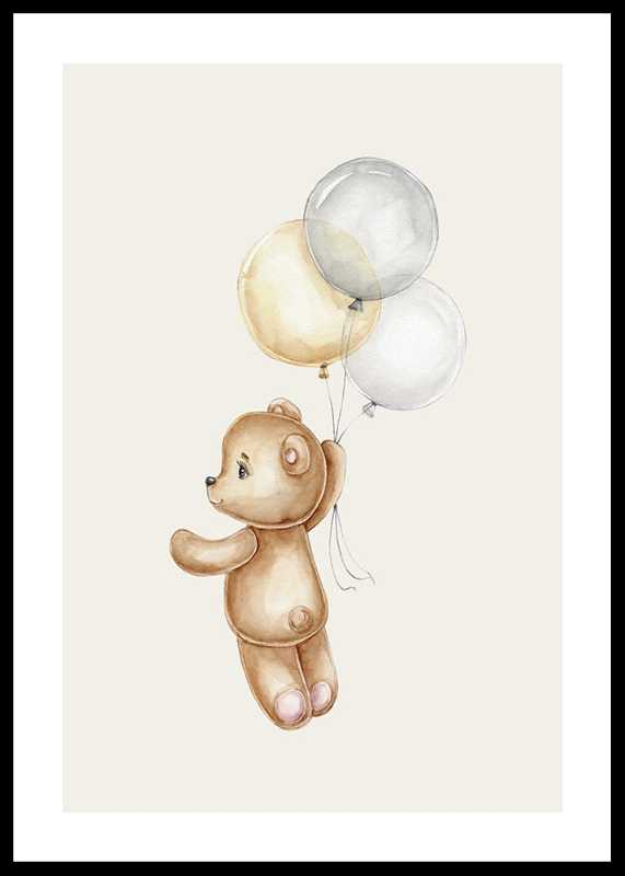 Teddy With Balloons