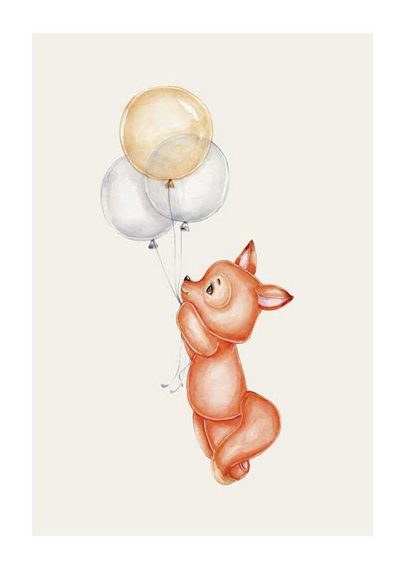 Fox With Balloons-1