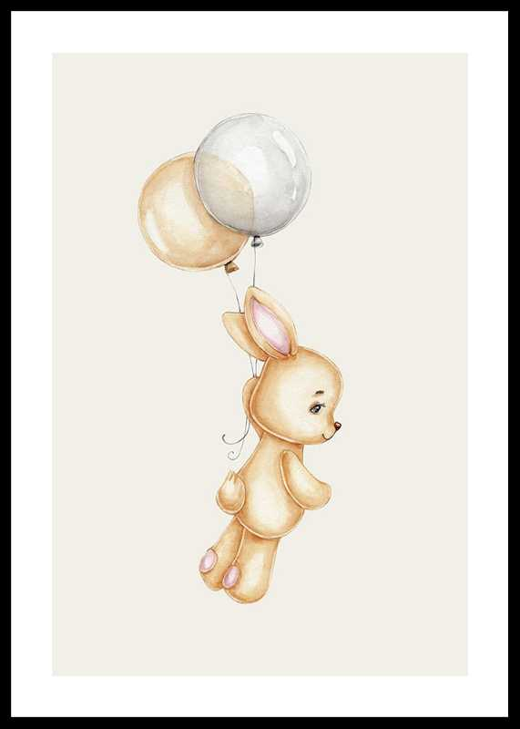 Bunny With Balloons