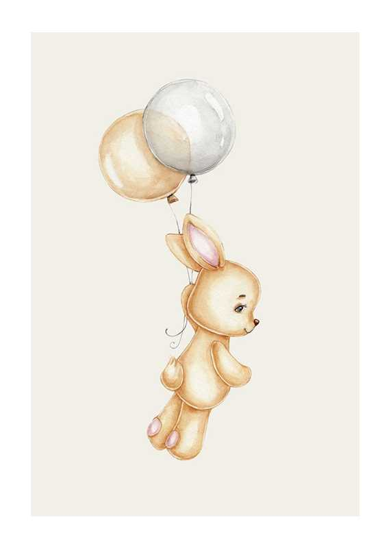 Bunny With Balloons-1