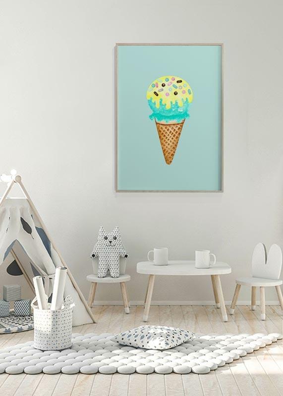 Ice Cream In Blue-4