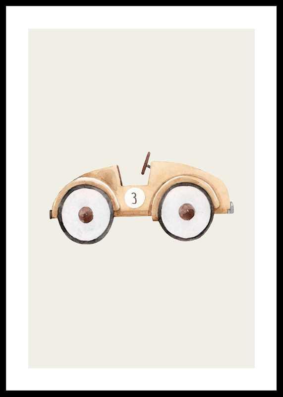 Beige Toy Car-0
