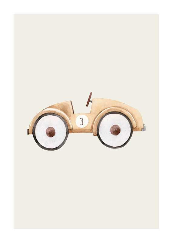 Beige Toy Car-1