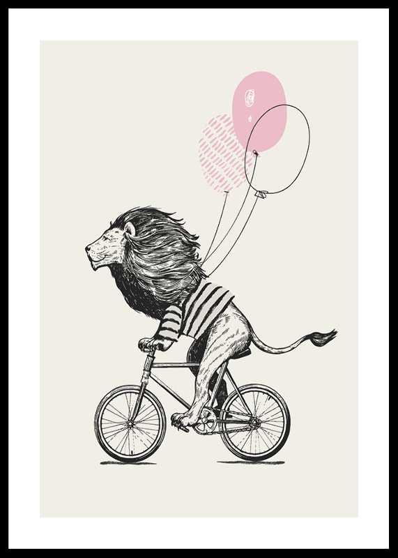 Lion On Bicycle
