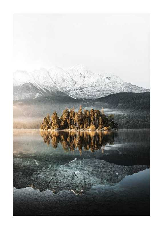 Lake By Mountains-1