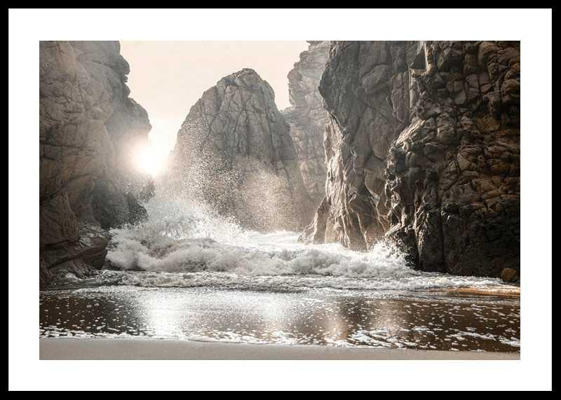 Waves Between Rocks-0