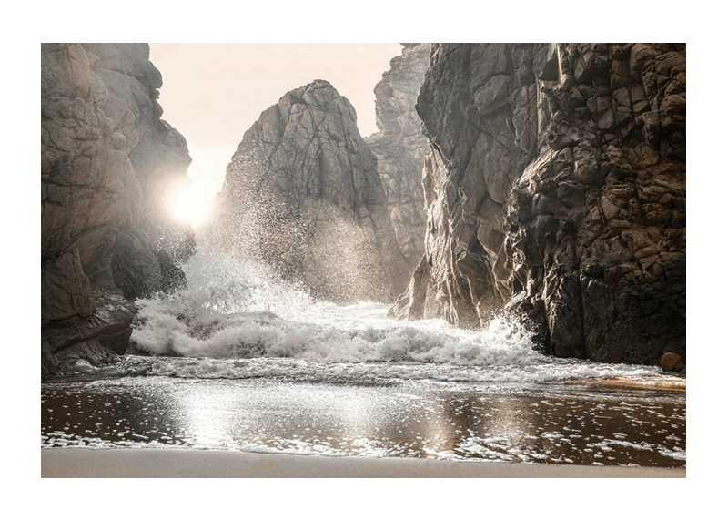 Waves Between Rocks-1