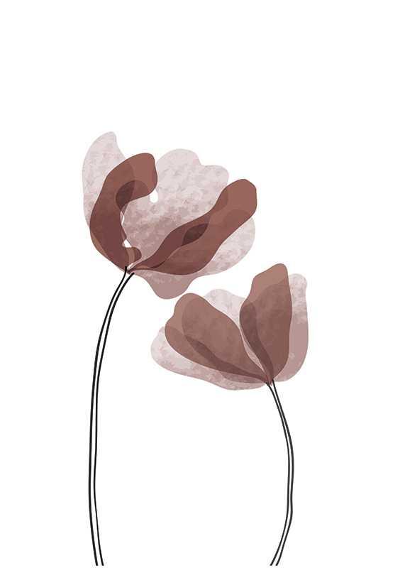 Watercolor Flowers No1-1