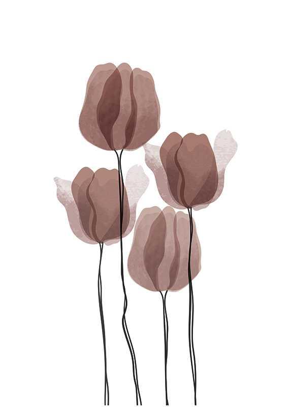 Watercolor Flowers No2-1