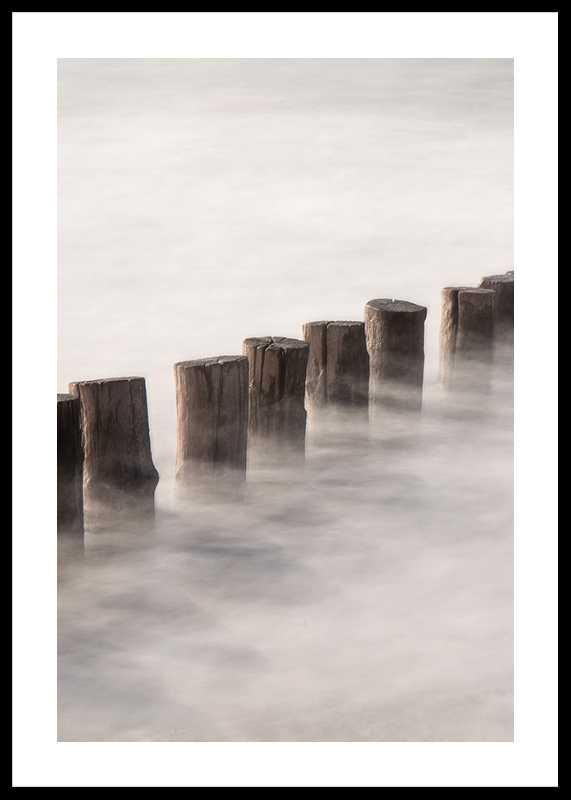 Piles In Fog-0